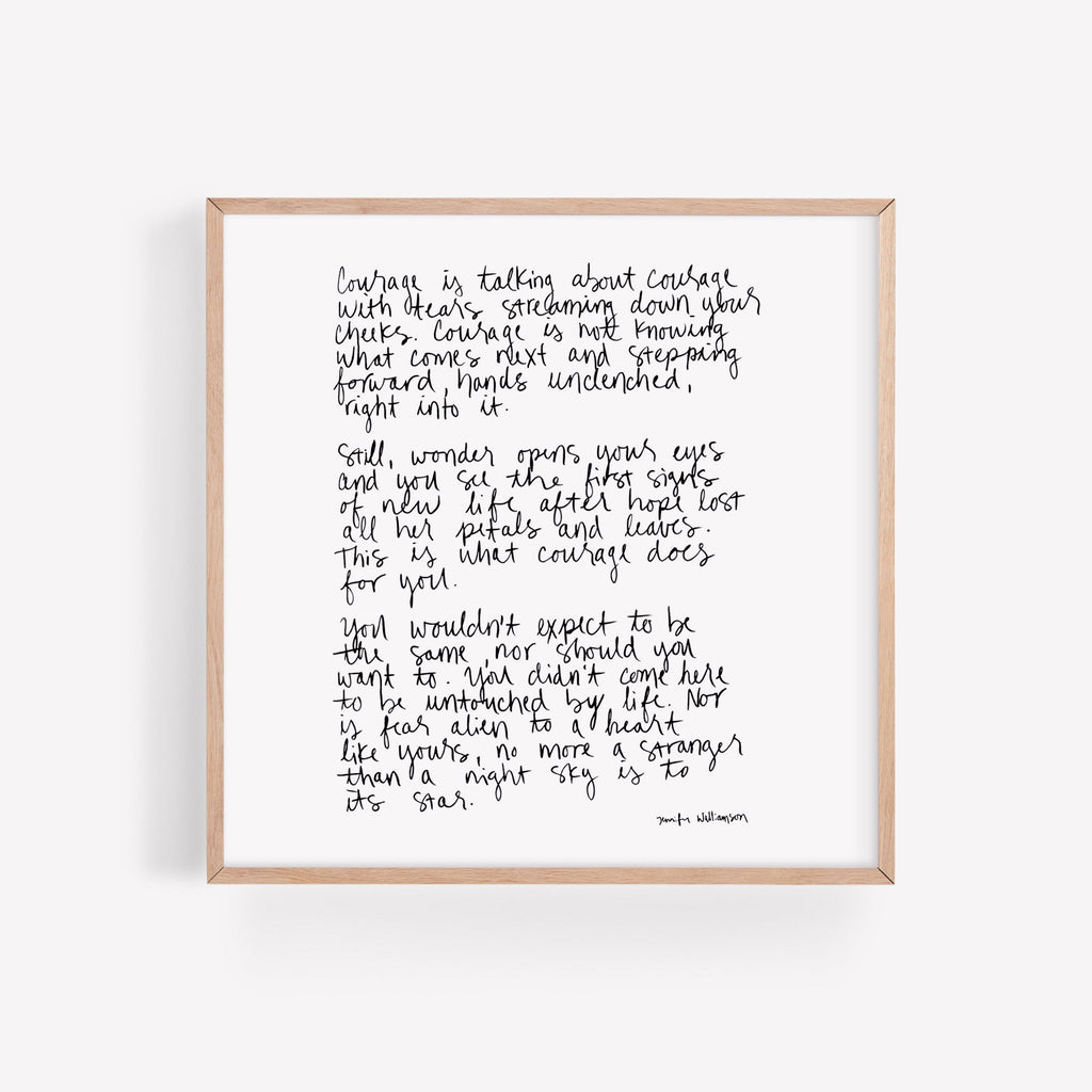 This Is Courage Hand Lettered Poetry Art Print