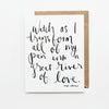 Watch As I Transform Hand Lettered Affirmation Encouragement Card
