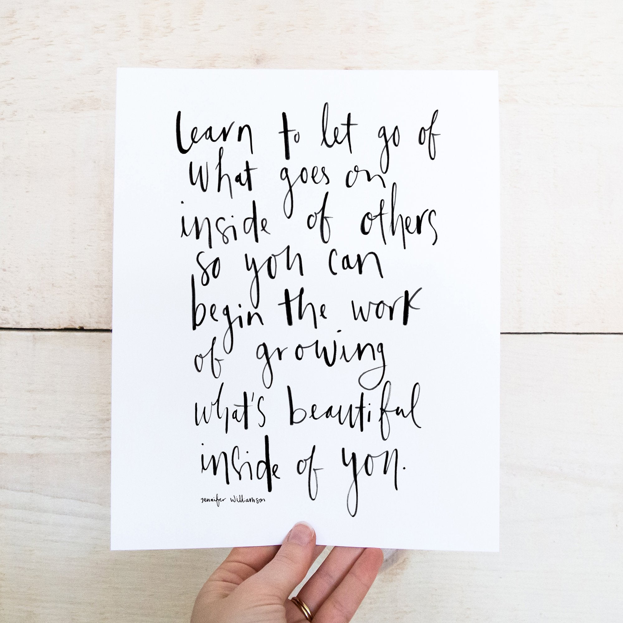 What's Beautiful Inside Of You Hand Lettered Poetry Art Print