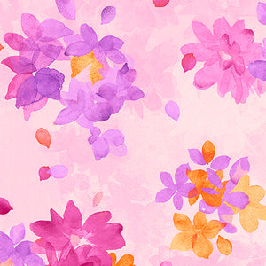 Soiree - Watercolor  Floral  Cotton Fabric