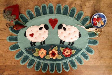 Woolen Love Table Topper pattern By Bird &Brain Designs