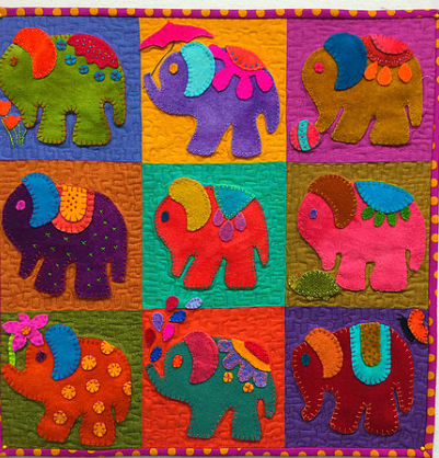 Elephants Odyssey Quilt Pattern by Applique After Hours