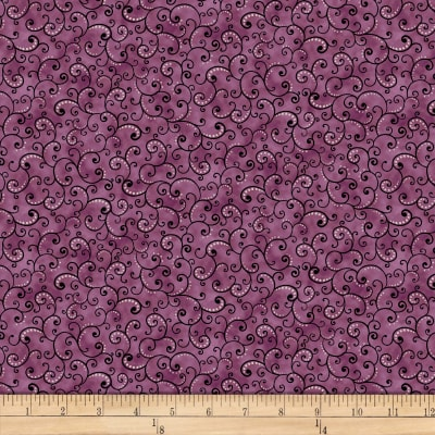 Juliette Scroll Print by QT Fabrics Cotton Fabric