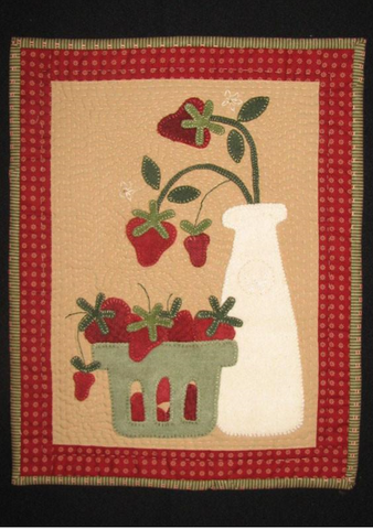 Strawberries and Cream by Wooden Spool Designs