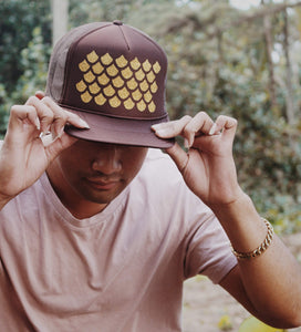 Unahi Designed Brown Trucker Hat