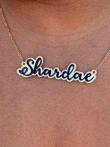 Valentines Day Special - Acrylic Name Necklace