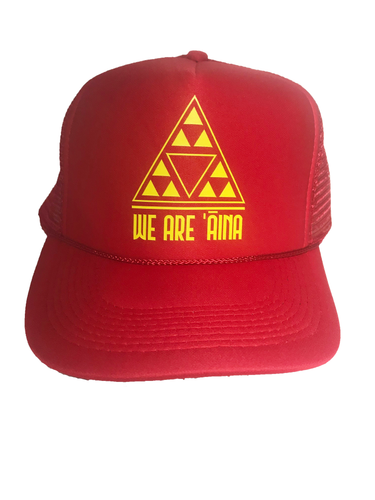We Are Aina Red Trucker Hat