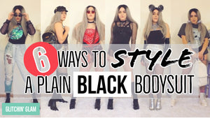 How to Style a PLAIN BLACK Bodysuit to a Festival