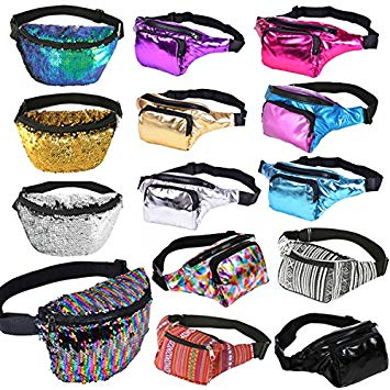 assorted fanny packs for your significant other for the holidays. presents to get your rave girlfriend