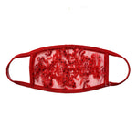 Red Roses Mesh Face Mask