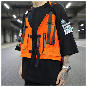 Fashion Hip Hop Sleeveless Tactical Vest