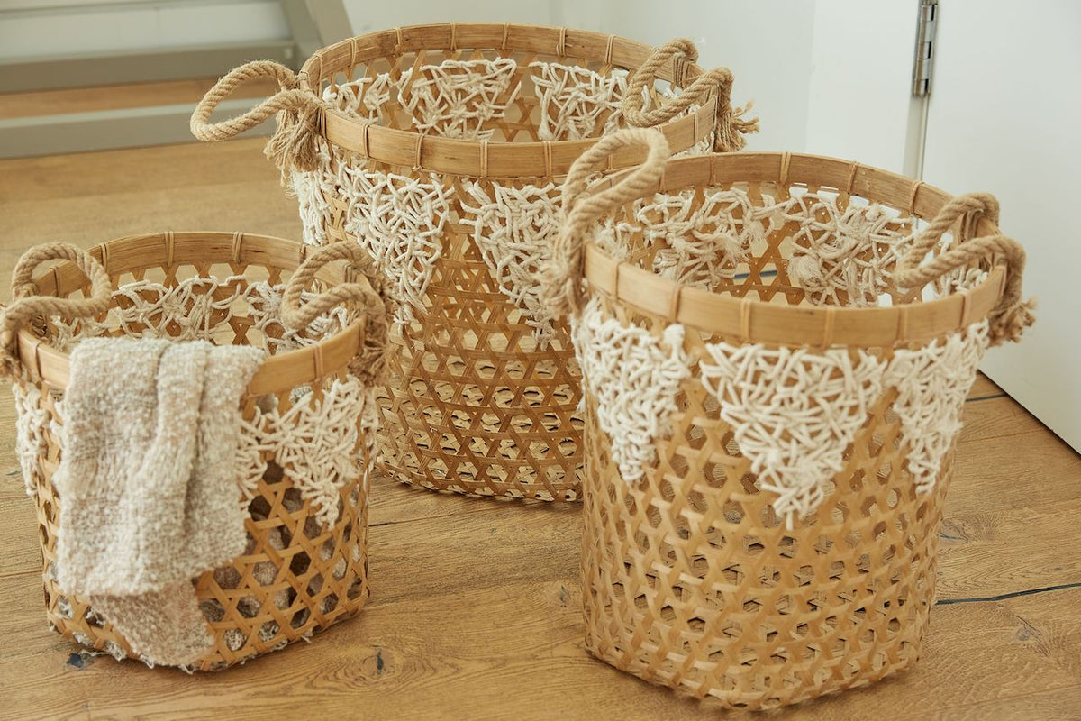 Woven Wicker Baskets - (BSH3009)