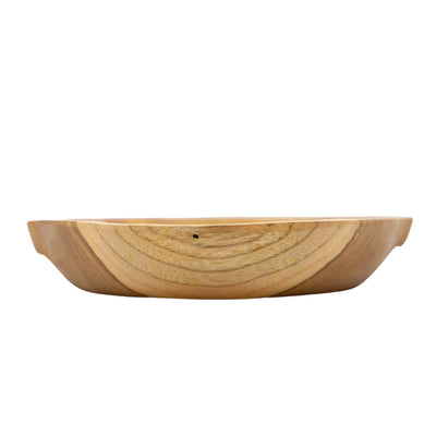 Teak wood plate with handles  (BSH1042)