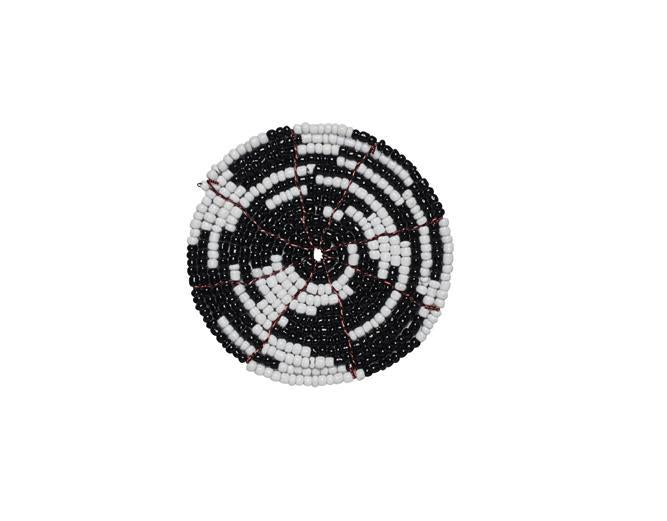 Black Beaded coaster (BSH1062)