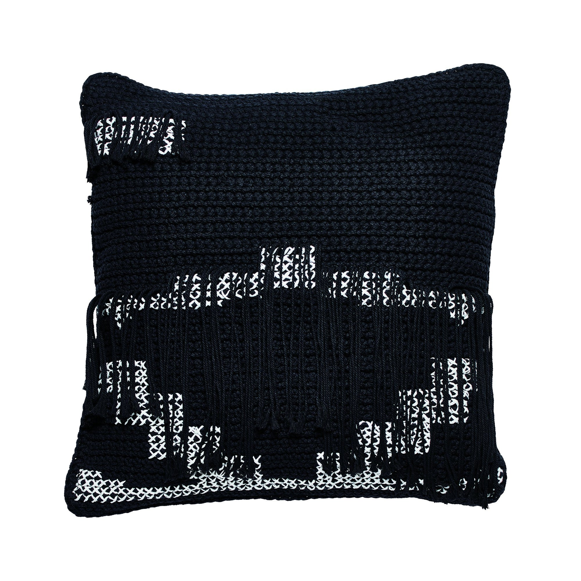 Crochet pillowcase with fringe (BSH1083)