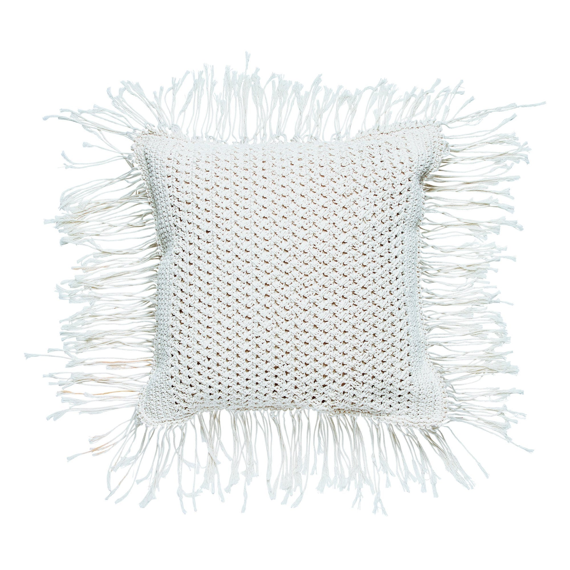 Crochet pillowcase with fringe (BSH1084)