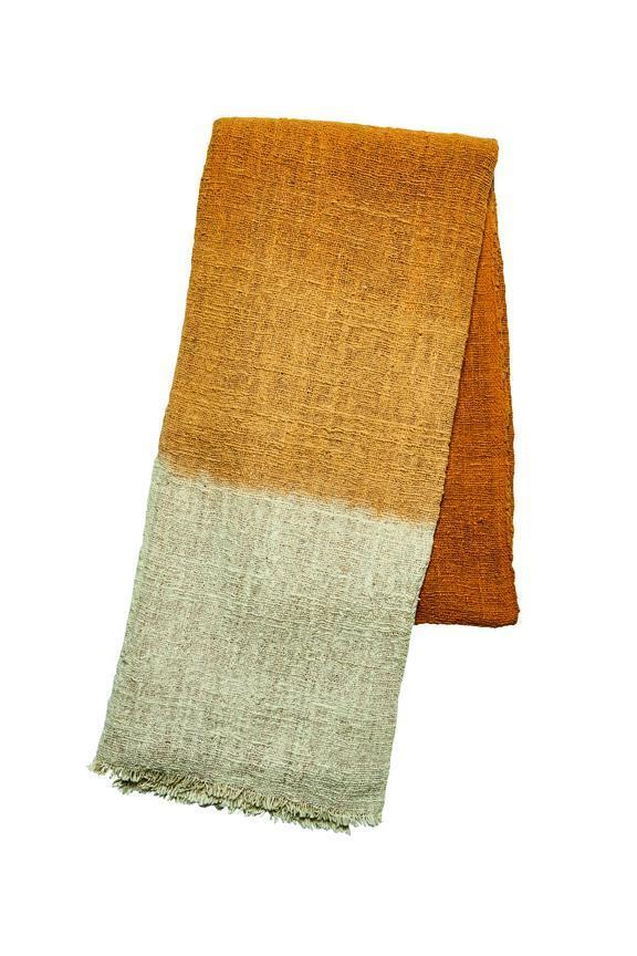 Ombre plant dyed cotton throw (BSH1099)