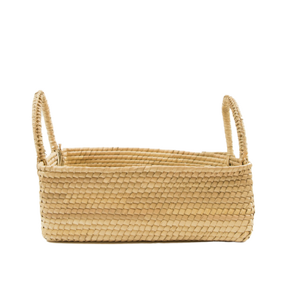 Artisan Crochet Rectangle Basket with handles (BSH5006)