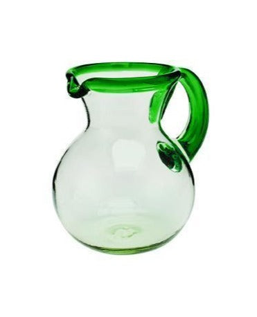 GLASS 64OZ PITCHER WITH POP COLOR RIM (BSH1035)