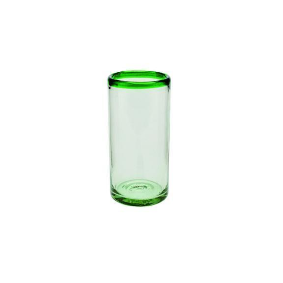 Glassware - HIBALL 20 OZ. GLASS WITH POP COLOR RIM (BSH1033)