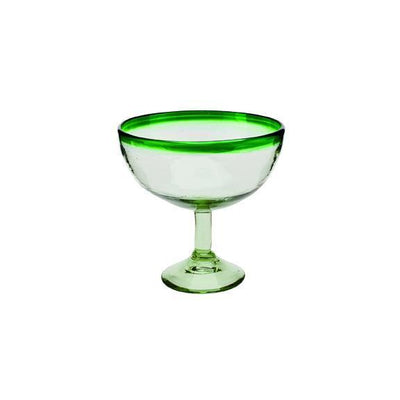 Glassware - MARGARITA GLASS WITH POP COLOR RIM SET OF 4 (BSH1035)
