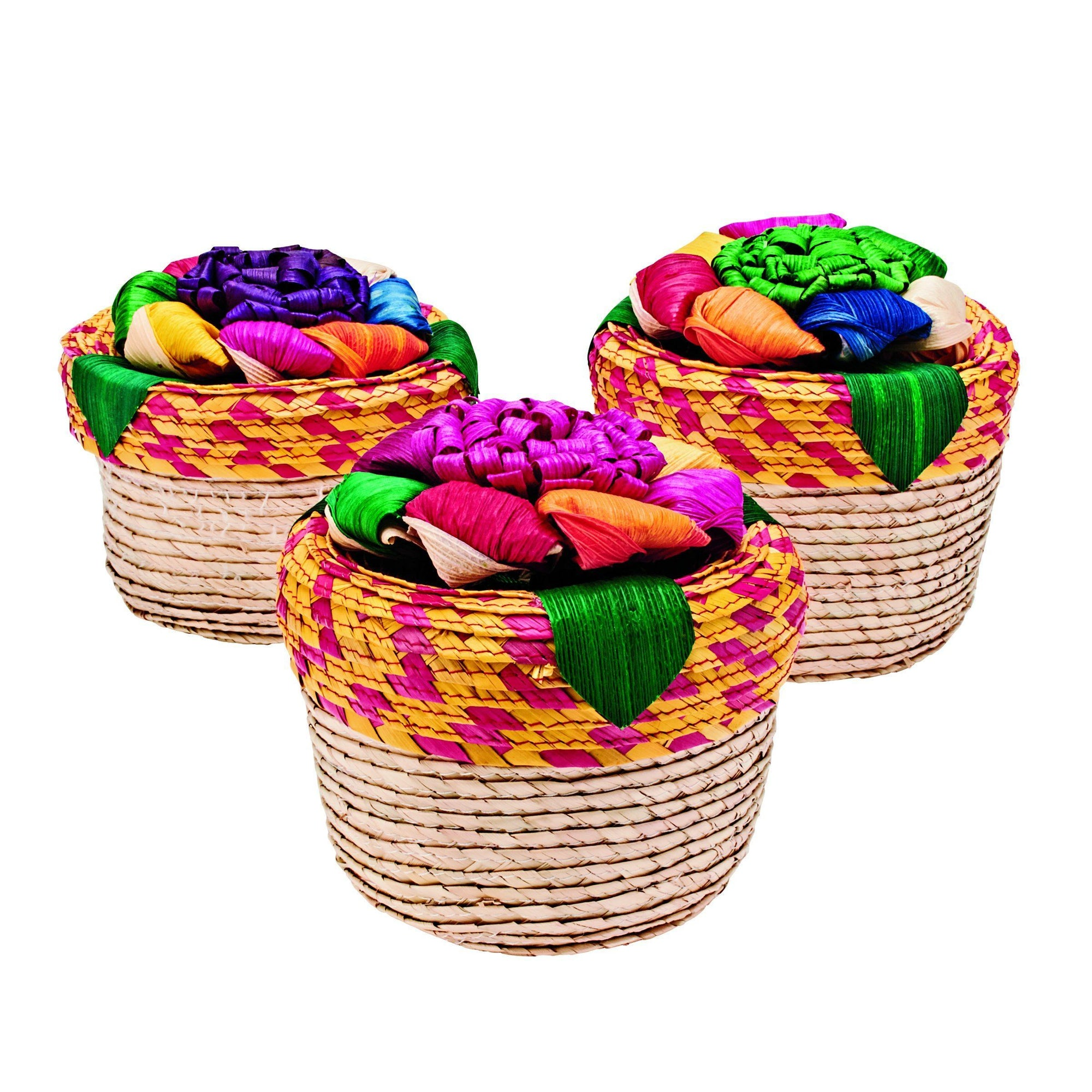 Home 3-Pack Mini Floral Baskets (BSH1004)