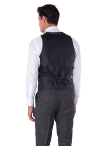 Back of Albie Grey Check Waistcoat