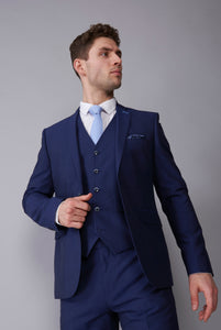ALEXANDER Blue Slim Fit Suit Jacket