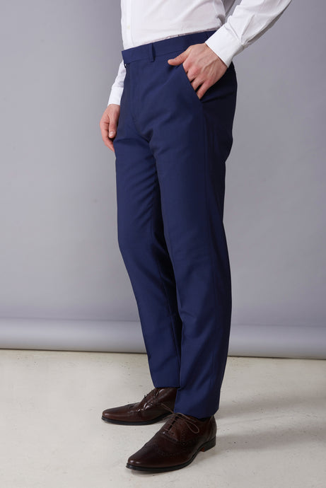 ALEXANDER Blue Slim Fit Suit Trousers