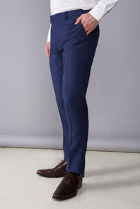 ARCHIE Blue Melange Three Piece Suit