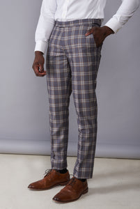BOBBY Grey Check Three Piece Suit