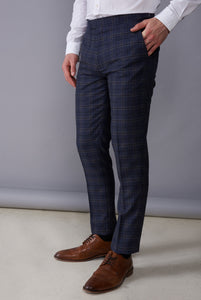 DYLAN Blue Check Three Piece Suit