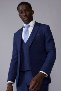 JONATHAN Blue Mini Check Slim Fit Suit