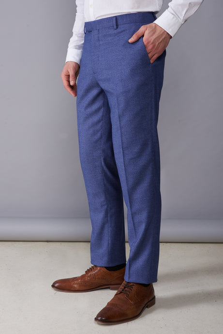 JOSHUA Light Blue Slim Fit Suit Trousers