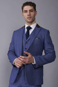 JOSHUA Light Blue Slim Fit Suit Jacket