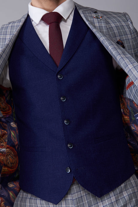 PETER Navy Single Breasted Waistcoat