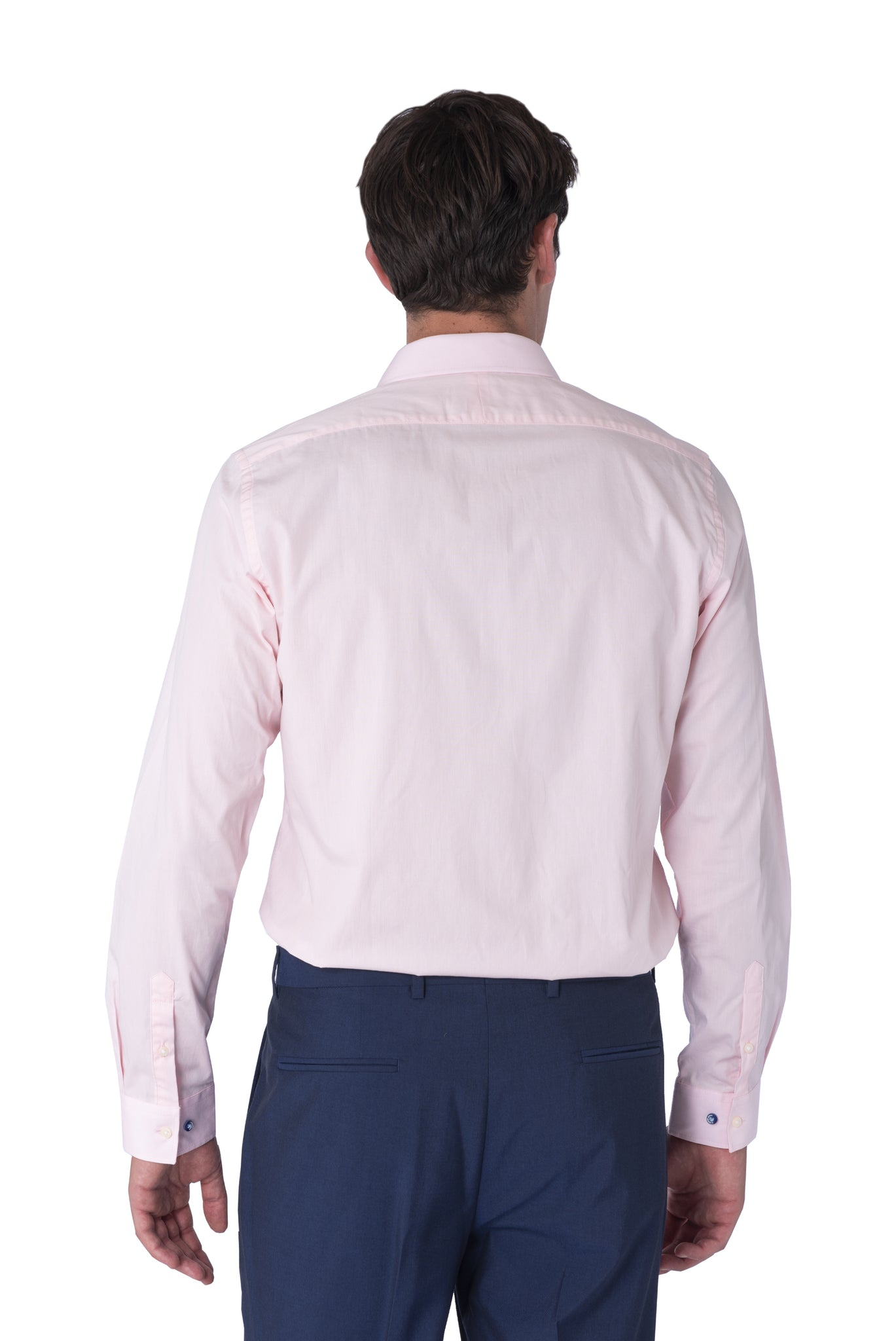 Back of THEO Light Pink Cotton Shirt