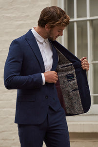 RALPH Navy Tweed Suit Jacket
