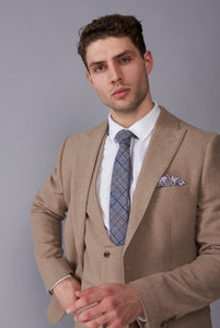 RALPH Biscuit Tweed Three Piece Suit