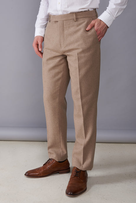 RALPH Biscuit Tweed Suit Trousers