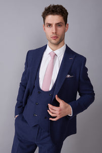 RALPH Navy Tweed Three Piece Suit