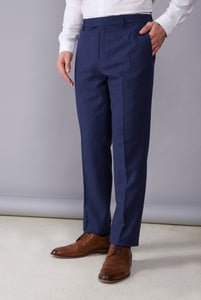 RALPH Navy Tweed Suit Trousers