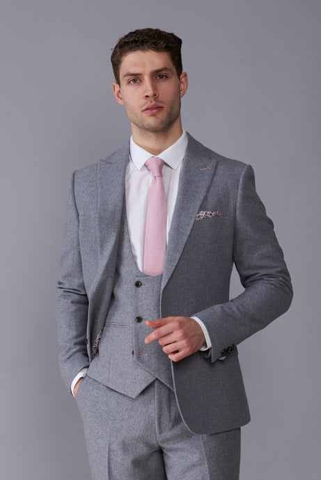 RALPH Grey Tweed Three Piece Suit