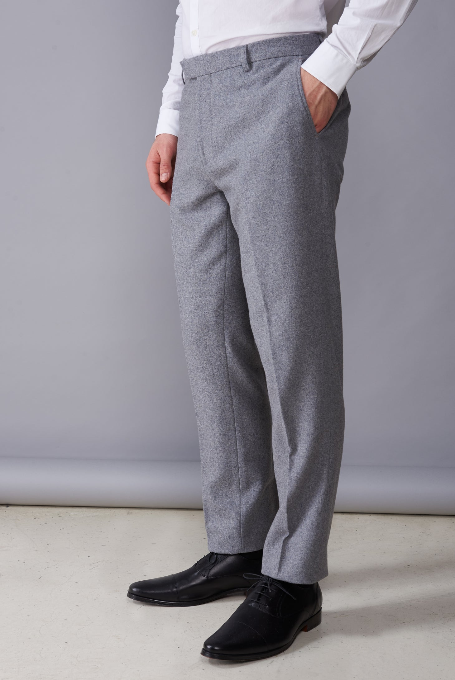 RALPH Grey Tweed Suit Trousers