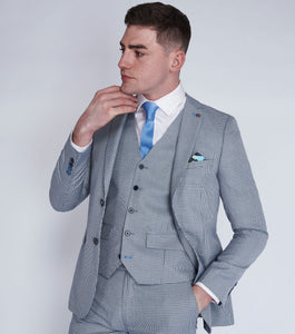 Roddie Blue/Black Puppytooth Suit Jacket
