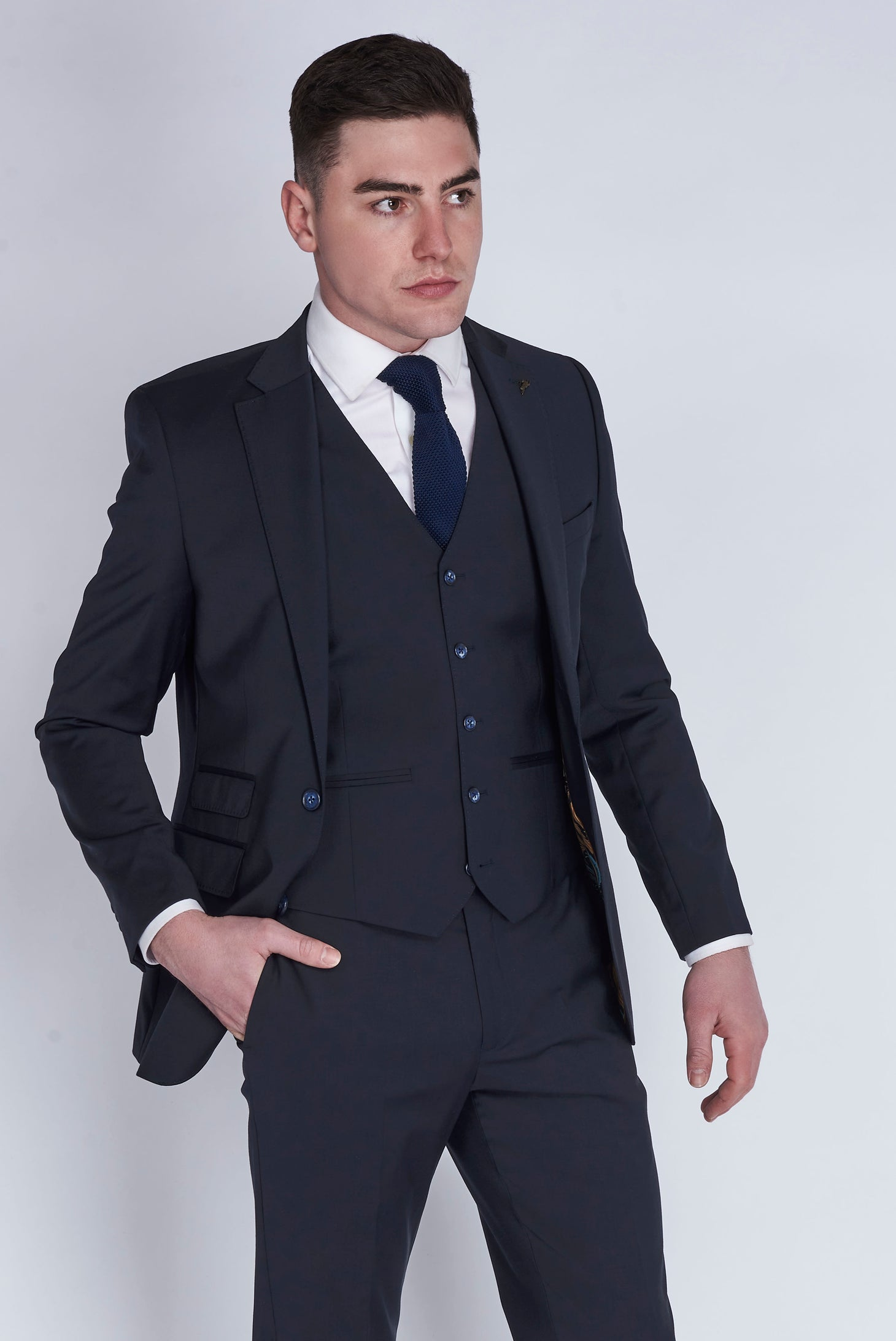 Charlie Navy Three Piece Suit