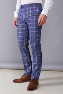 TOBY Blue Check Three Piece Suit