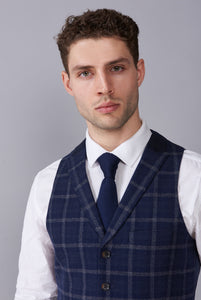TYLER Navy Check Three Piece Suit