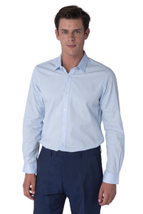 Front of THEO Sky Blue Cotton Shirt