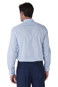 Back of THEO Sky Blue Cotton Shirt